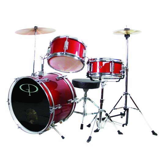 GP Percussion 3 Piece Junior Drum Set - GP50RD