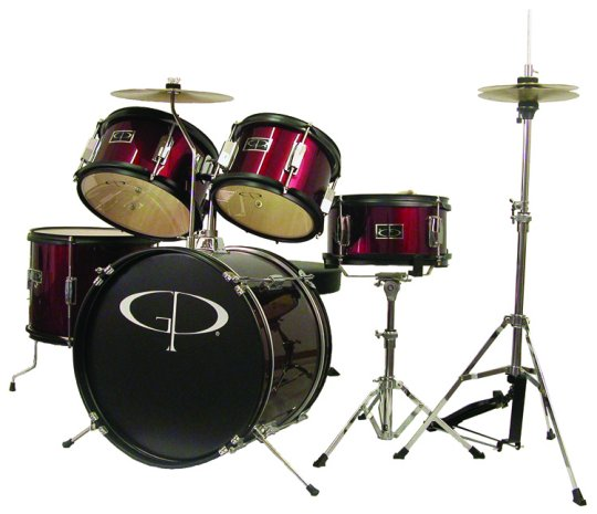 GP Percussion 5 Piece Junior Drum Set - GP55WR