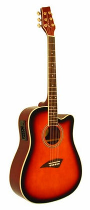 Kona K1E Series Dreadnought Cutaway Acoustic/Electric - K1ETSB