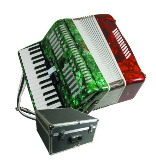 Mirage Mexican Flag Color Piano Key Accordion