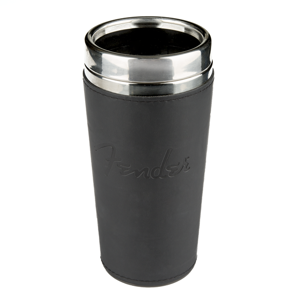 Fender™ Blackout Travel Mug, Black, 16 oz.