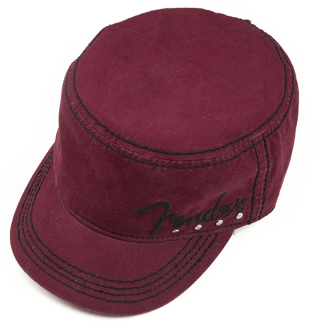 Fender® Studded Legion Cap, Wine, S/M