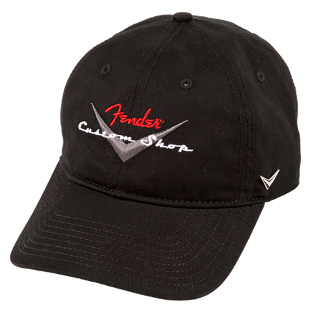 Fender® Custom Shop Baseball Hat, Black, One Size Fits Most