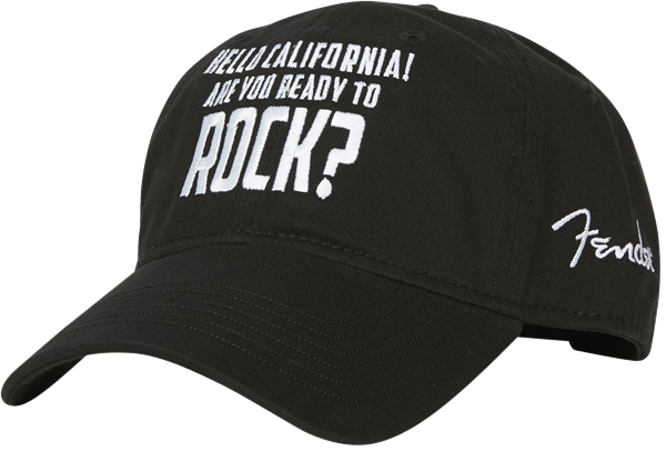 California Rock Hat, Black, One Size Fits Most