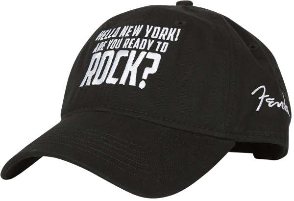 New York Rock Hat, Black, One Size Fits Most