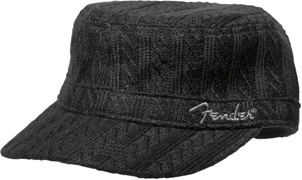 Fender® Military Sweaterknit Hat, Black, One Size Fits Most