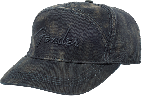Fender® Blackwash Rivets Hat, Black, One Size fits Most
