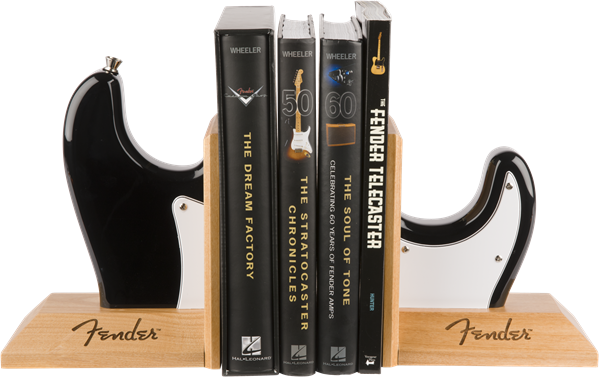 Fender™ Strat™ Body Bookends, Black