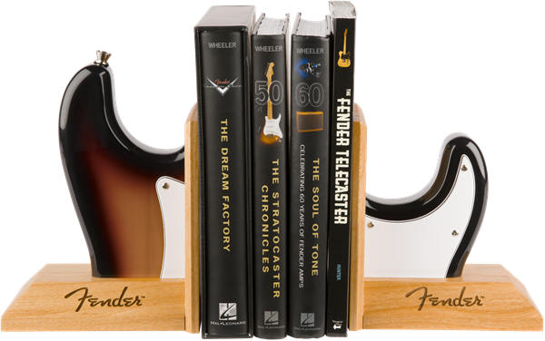 Fender™ Strat™ Body Bookends, Sunburst