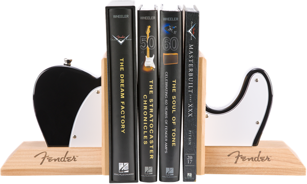 Fender™ Tele™ Body Bookends, Black