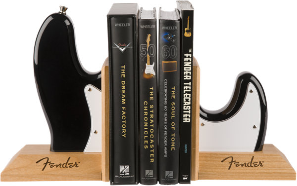 Fender™ Bass Body Bookends, Black