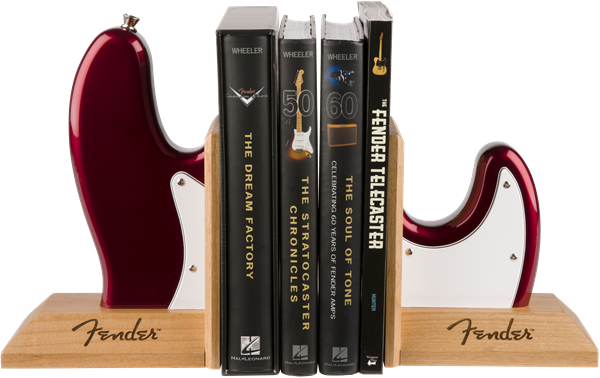 Fender™ Bass Body Bookends, Red