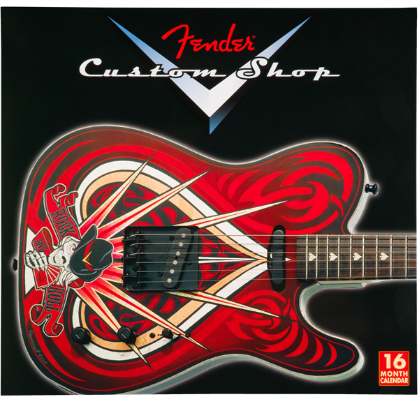 2017 Fender Custom Shop Wall Calendar, Black