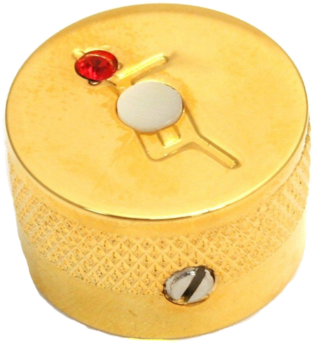 "Knob, Most Gretsch® Models, ""G"" Logo with Jewel, Gold (4)"