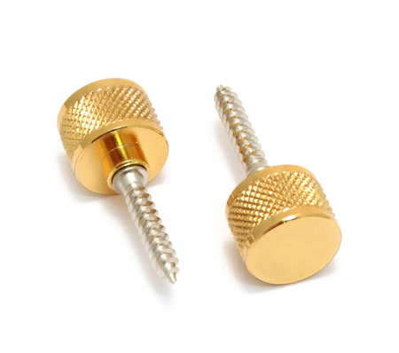 Strap Buttons, Most Gretsch® Guitars, with Mounting Hardware, Gold
