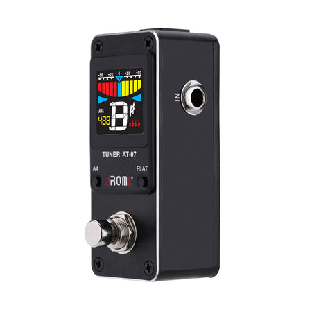 AT-07 Mini Foot Guitar Tuner Effect Pedal With Chromatic Tuning Metal