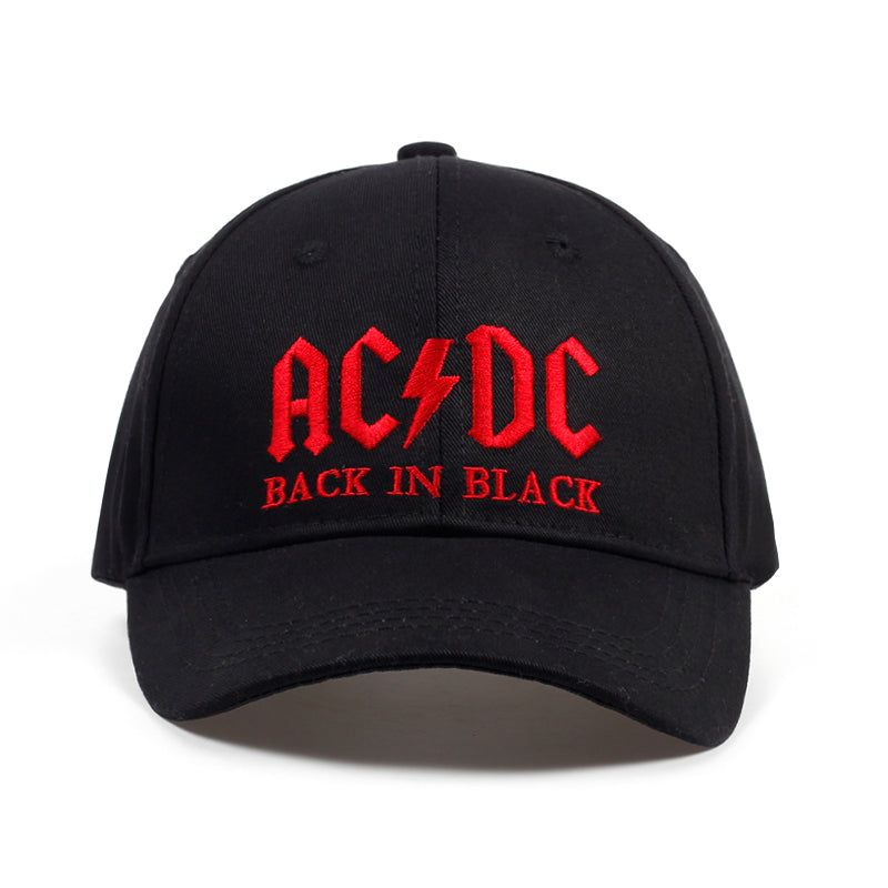 AC/DC Embroidery Letter Cap