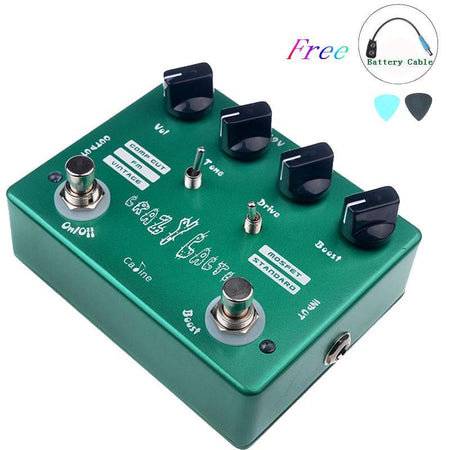 Crazy Cacti Overdrive CP-20 Guitar Effect Pedal With True Bypass Design