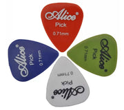 High Quality Thin 0.71mm Acoustic Electric Guitar Picks With Box Case 100pcs
