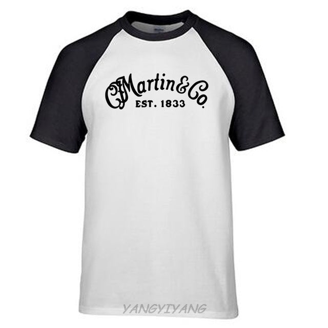 MARTIN & CO Guitars Heart, Hue, Legend New Jersey T Shirt