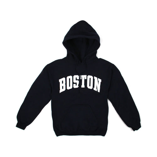 Womens Boston Logo Pullover Hoodie (Dark Navy)