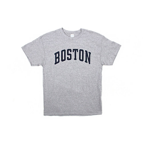 Womens Boston Logo Tee Shirt (Grey)