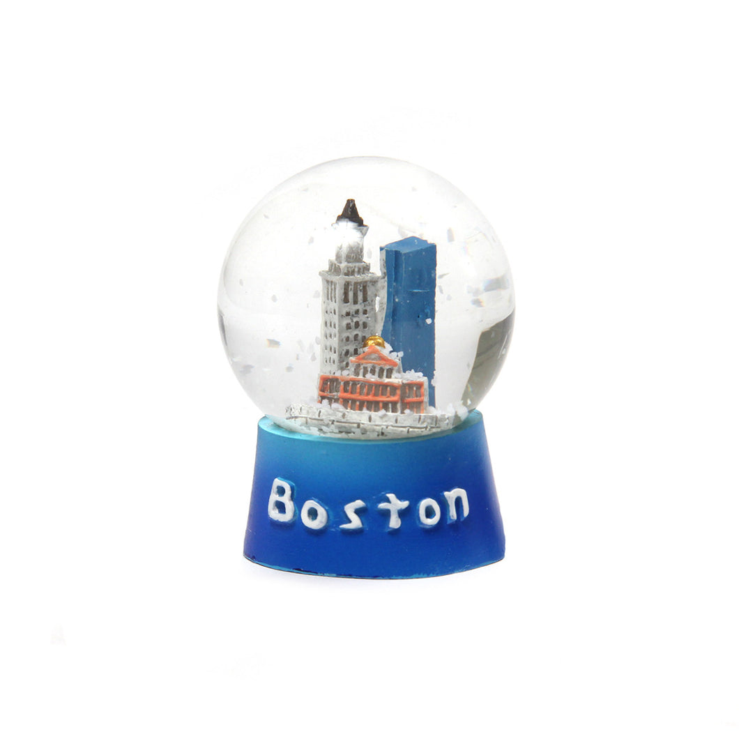 Boston Glass Snow Globe (Blue)