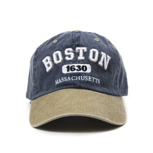 Boston 1630 Mass Cap (Denim Blue/Tan)