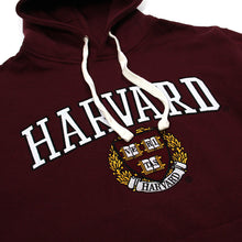 Womens Harvard Applique Arch Logo & Crest Hoodie Sweatshirt (Crimson/White)