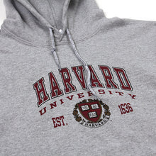 Womens Harvard Arch Logo & Crest Pullover Hoodie (Light Grey)