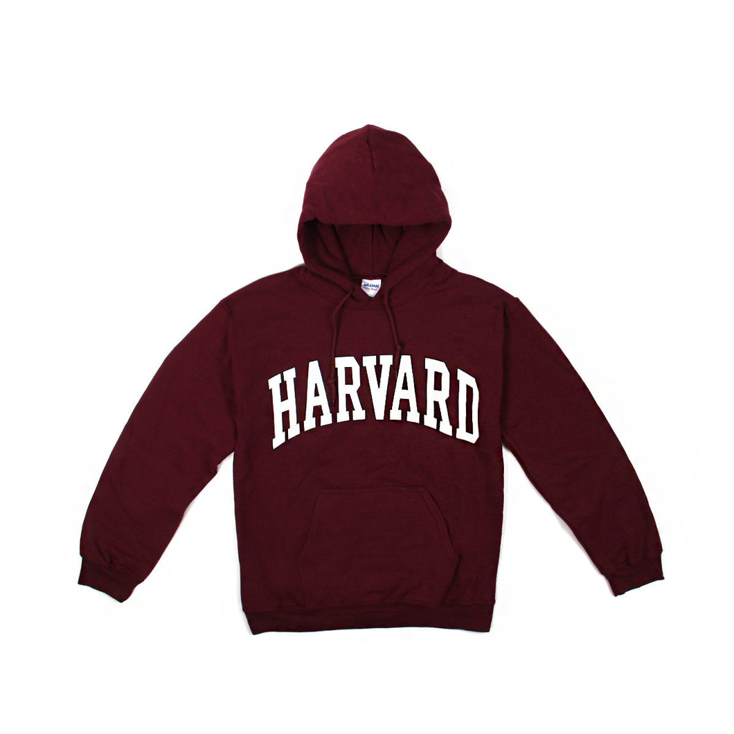 Womens Harvard Arch Logo Zip-Up Hoodie (Crimson/White)