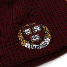 Harvard Crest Knit Beanie (Crimson)