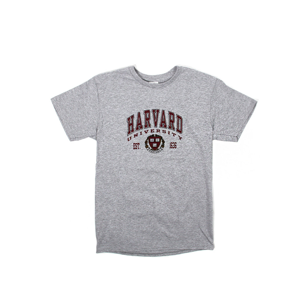 Harvard Logo Arch & Crest Tee (Light Grey)
