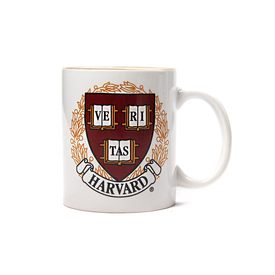Harvard Crest Gold Rim Mug (White)