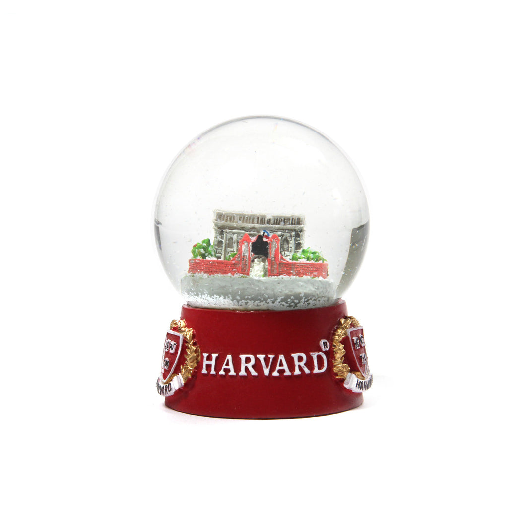 Harvard Glass Snow Globe (Crimson)