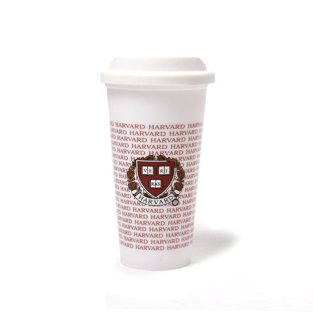 Harvard Tall Travel Cup (White)