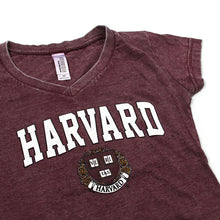 Womens Harvard V-Neck Tee (Crimson)