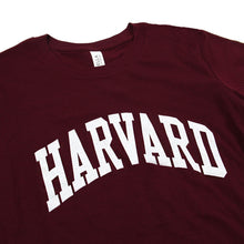 Womens Harvard Logo Tee (Crimson)