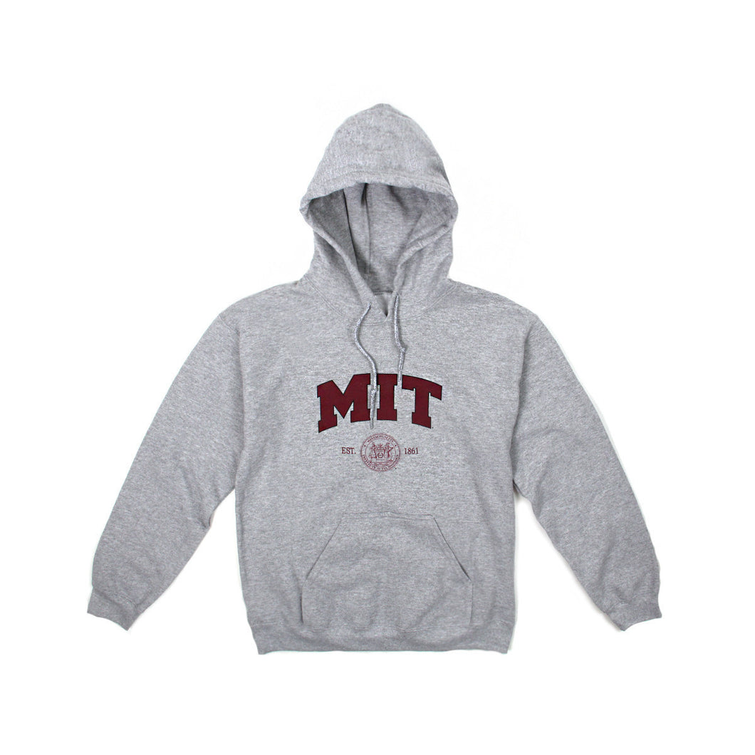 Womens MIT Logo Pullover Hoodie (Light Grey)