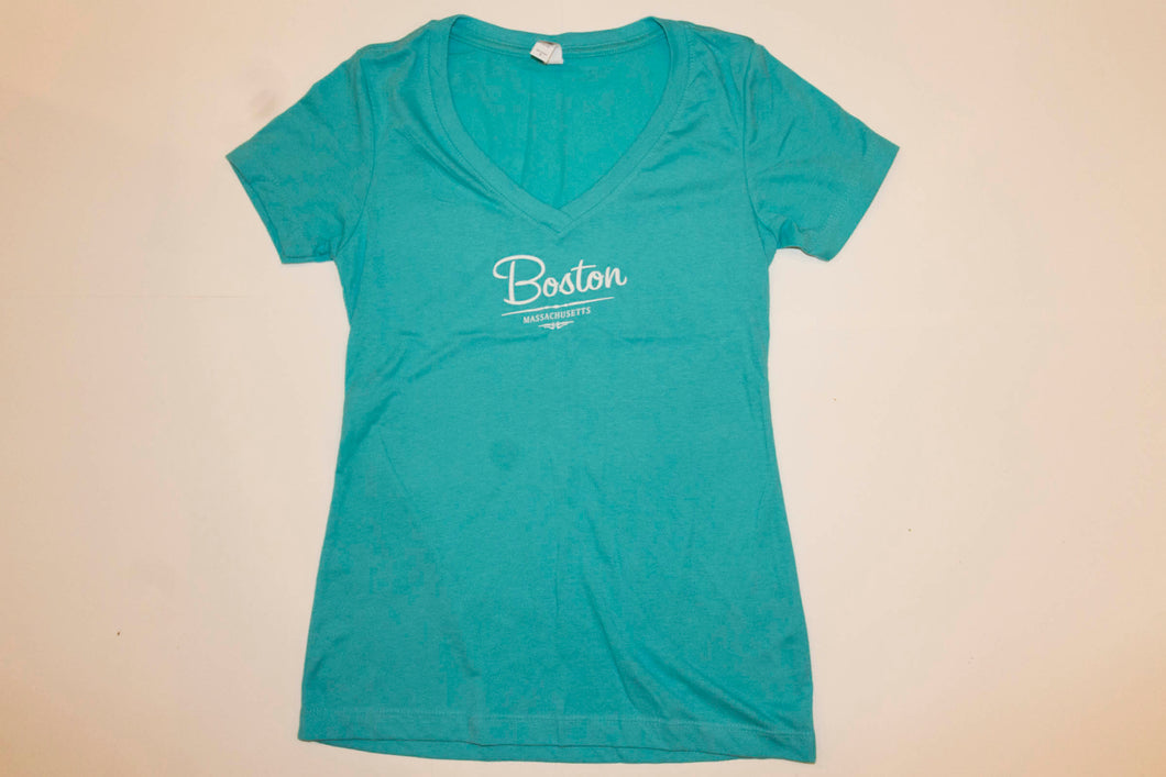 Womens Boston Tee (Turquoise)