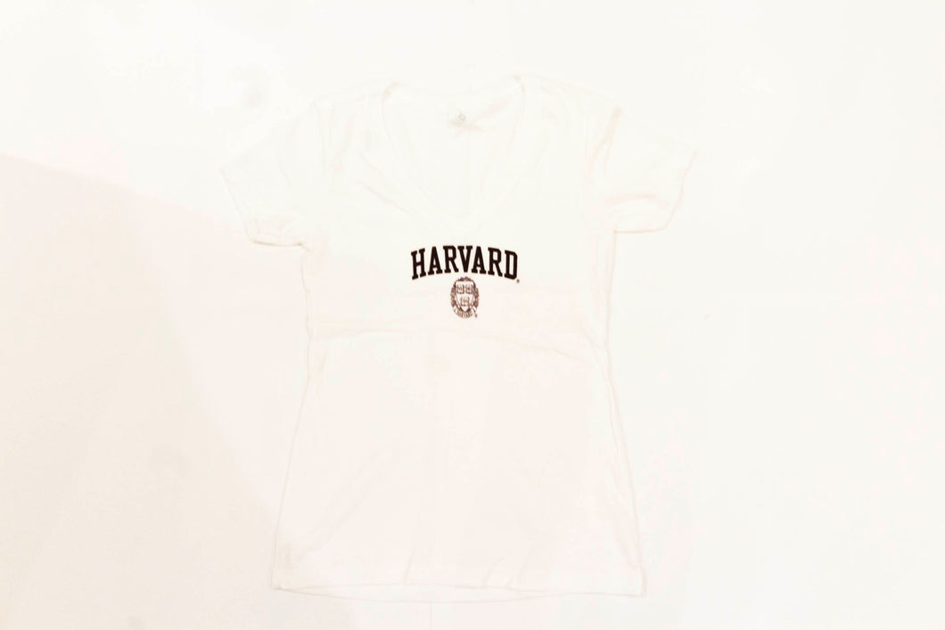 Womens Harvard Logo Tee (White)