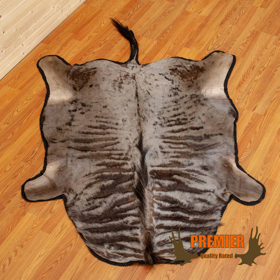 blue wildebeest rug taxidermy
