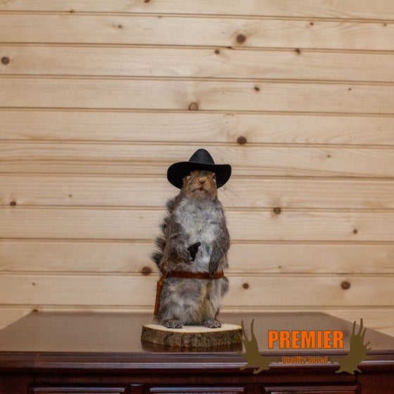 Cowboy Squirrel Taxidermy Mount - SW10146