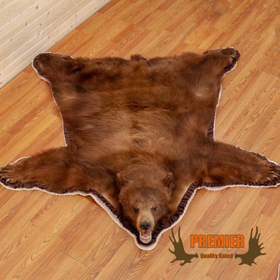 cinnamon phase black bear rug for sale