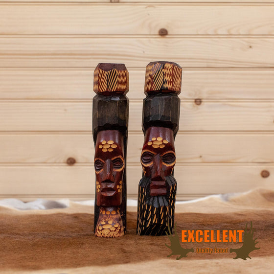 african art artifact carving pair figurines for sale