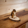 "Chipmunk on Wood ""Cookie"" Full Body Taxidermy Mount SW10271"