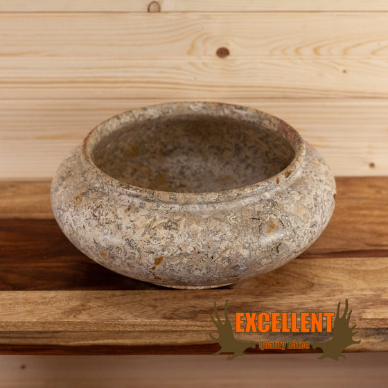 fossilized stone decorative bowl for sale safariworks decor