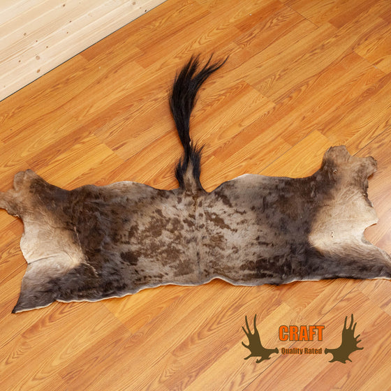 craft grade black wildebeest hide skin for sale