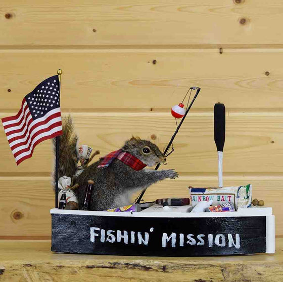 Boating Squirrel Taxidermy Mounts for Sale