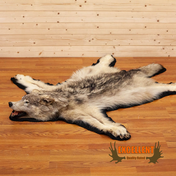 gray grey wolf rug for sale